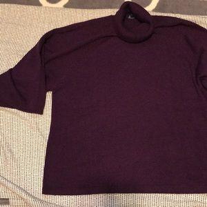 Eileen Fisher Turtleneck Flow Sleeve Wool Sweater